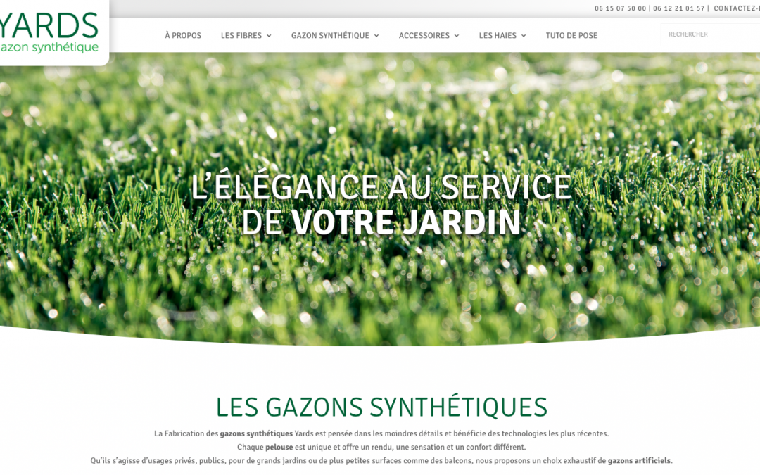 Site internet pour Yards gazon synthetique